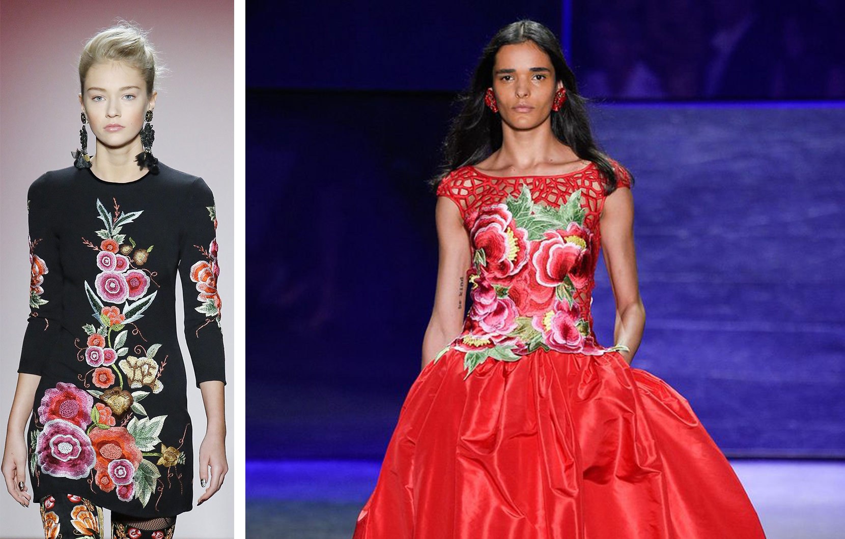 Mexican-inspired looks from Naeem Khan's Fashion Week runway.