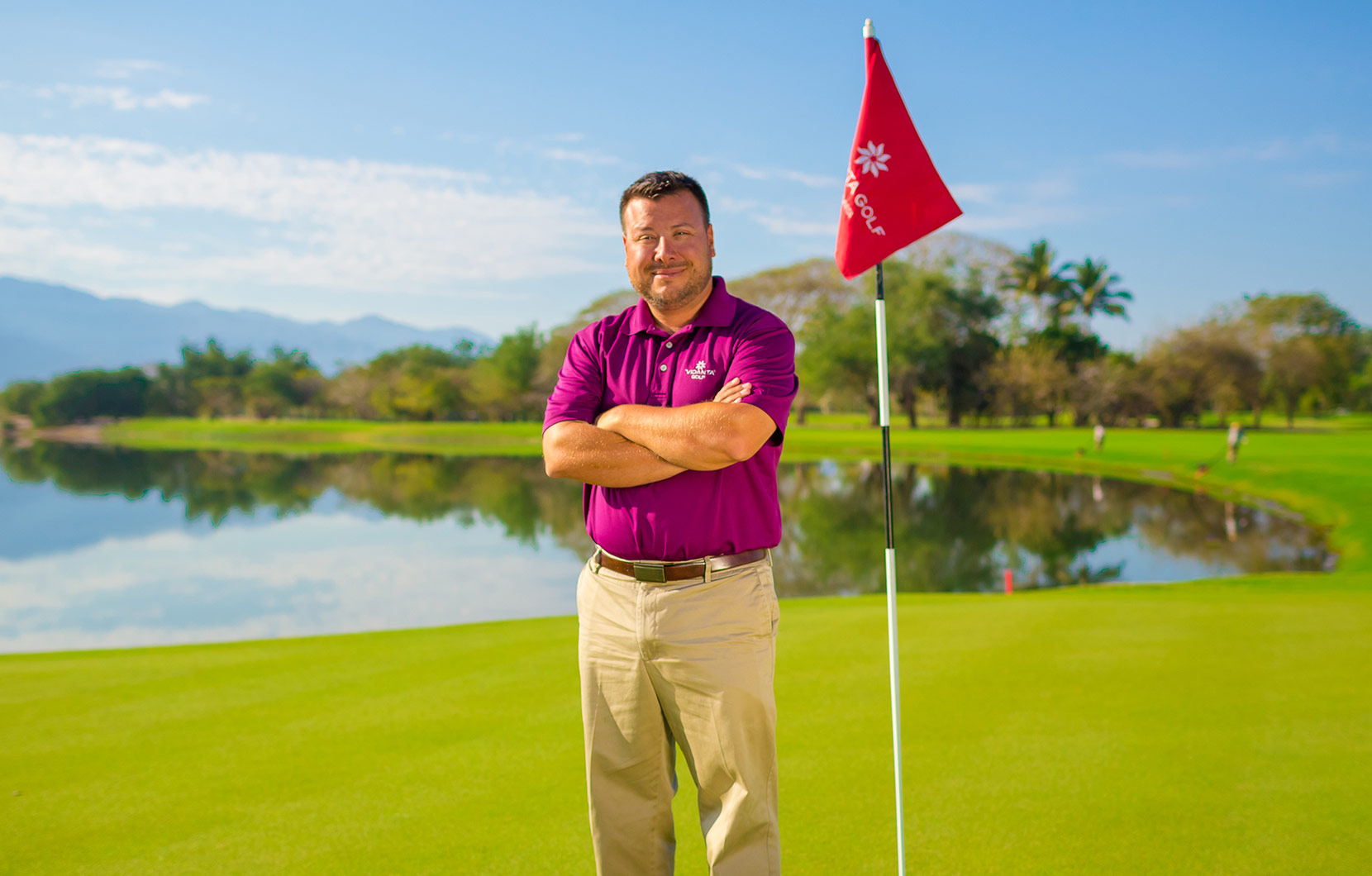 Shane has been caring for the courses at Vidanta Golf for the last year and a half.