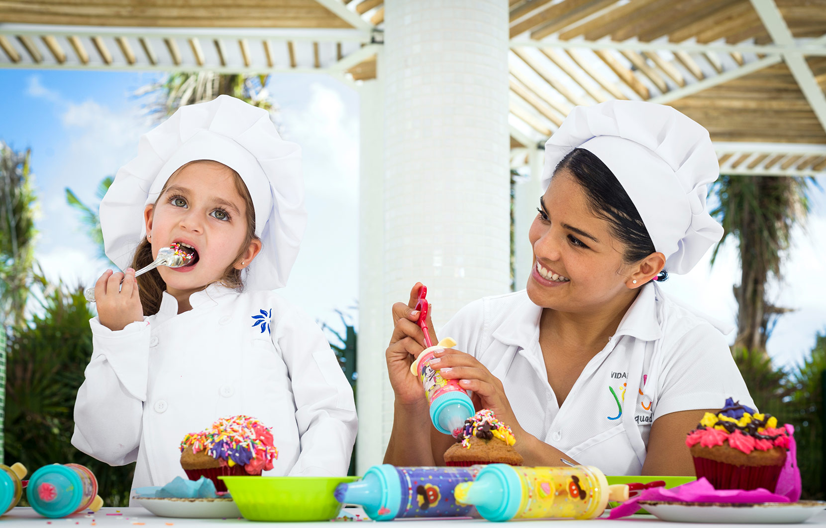 Kids can try their hand at being a pastry chef with the Top Chef Jr. Program.