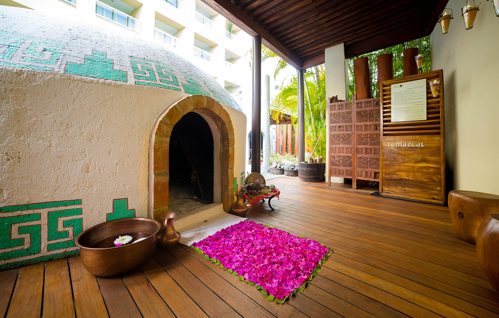 The Temazcal at Vidanta Nuevo Vallarta allows vacationers to experience traditions of authentic ancient Mexico.